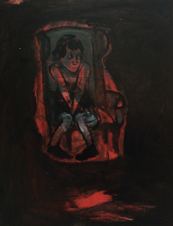 Afraid of the dark again, 2018, oil on canvas, 50 x 40 cm