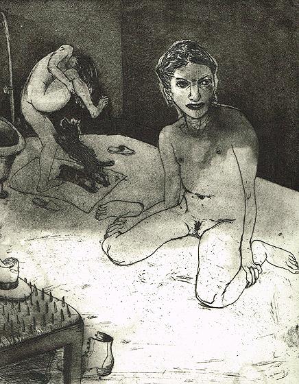 We're all bleeding 3, 2012, etching/aquatint, 25 x 20 cm, edition 15