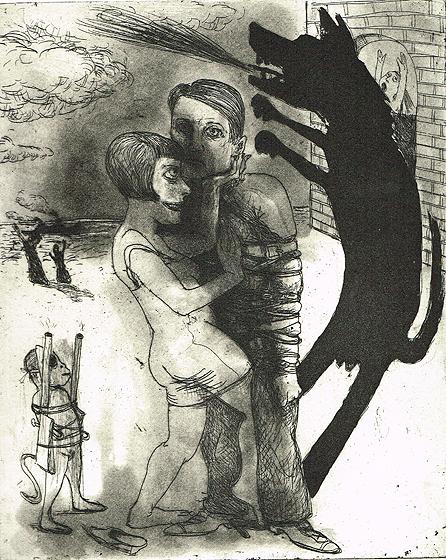 We're all bleeding 4, 2012, etching/aquatint, 25 x 20 cm, edition 15