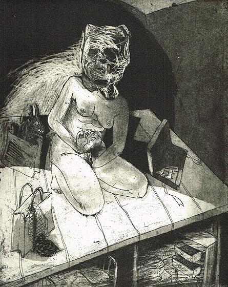 We're all bleeding 8, 2012, etching/aquatint, 25 x 20 cm, edition 15