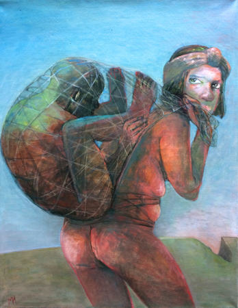 Burden, 2017 , oil on canvas, 92 x 72 cm