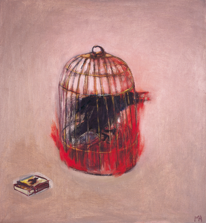 Bye bye blackbird 1, 2006, oil on canvas, 71 x 66 cm
