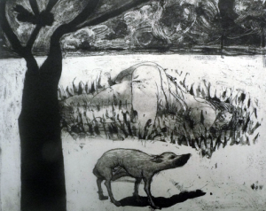 The Crying Game 10, 2015, etching/aquatint, 20 x 25 cm, edition 30
