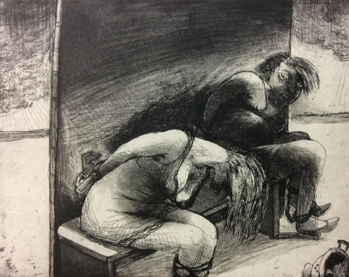 The Crying Game 15, 2015, etching/aquatint, 20 x 25 cm, edition 30