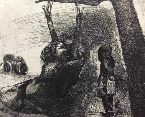 The Crying Game 18, 2015, etching, 20 x 25 cm, edition 30