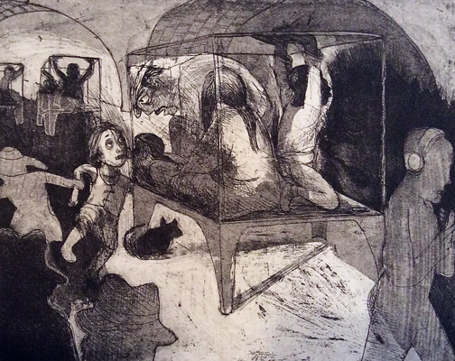 The Crying Game 19, 2015, etching/aquatint, 20 x 25 cm, edition 30