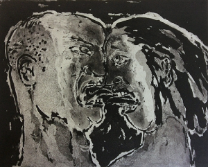The Crying Game 20, 2015, sugar lift aquatint, 20 x 25 cm, edition 30