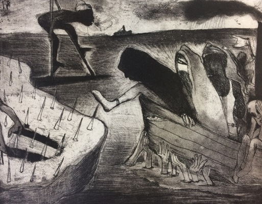 The Crying Game 22, 2017, etching/aquatint, 20 x 25 cm, edition 30