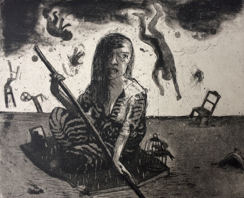 The Crying Game 24, 2017, etching/aquatint, 20 x 25 cm, edition 30