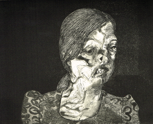 The Crying Game 6, 2015, etching/aquatint, 20 x 25 cm, edition 30