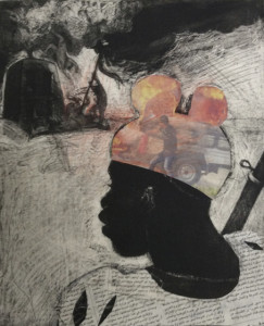 Child Soldier 4, 2015, 30 x 25 cm, etching/aquatint/collage, #3, V.E 30