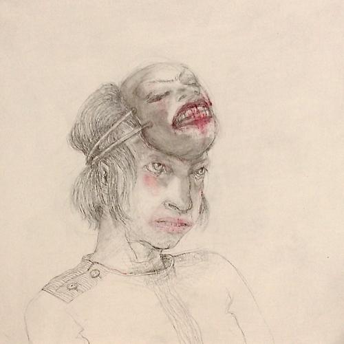 DW18-20/3, 2016, pencil, oil on board, 30 x 30cm