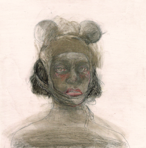DW27-16/3, 2016, pencil, oil on board, 31 x 31 cm
