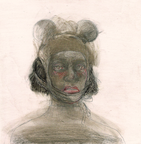 DW27-16/3, 2016, pencil, oil on board, 31 x 31cm