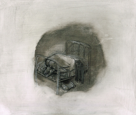 DW31-8_5, 2016, pencil, oil on board, 30 x 35cm