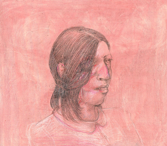 DW40-12/6, 2016, pencil, oil on board, 27 x 30 cm