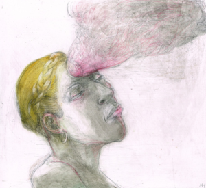DW58–13/7, 2016, pencil, oil on board, 27 x 30 cm