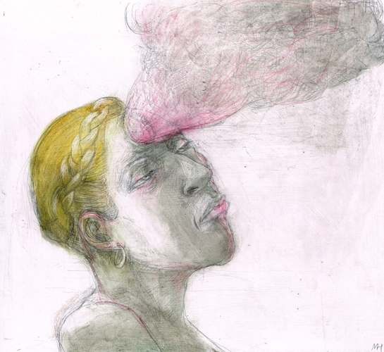 DW58–13/7, 2016, pencil, oil on board, 27 x 30 cm