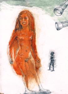 DW6–3/3, 2016, pencil, oil on board, 30 x 23cm