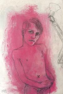 DW63-31/7, 2016, pencil, oil on board, 17 x 11cm