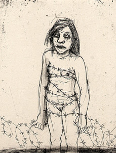 Dress, 2008, etching, 15.5 x 12 cm, edition 15