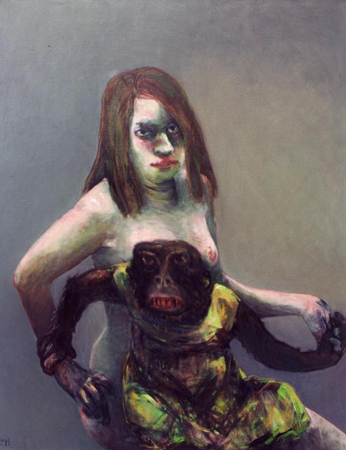 Dresscode 3, 2007, oil on canvas, 110 x 86 cm