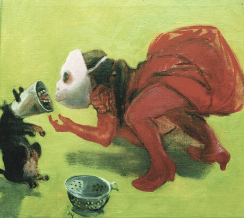 Education of a minor 1, 2002, oil on canvas, 41 x 43 cm