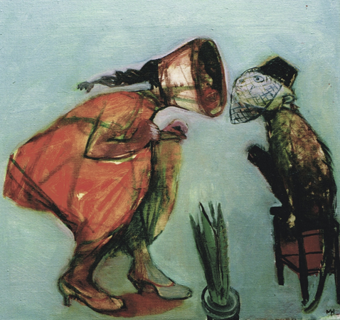 Education of a minor 2, 2002, oil on canvas, 41 x 43 cm
