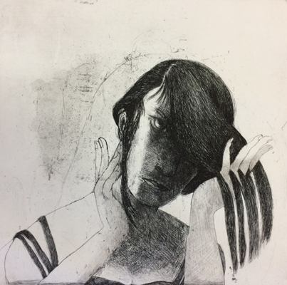 Getting ready, 2018, 50 x 50 cm, etching, ed 30