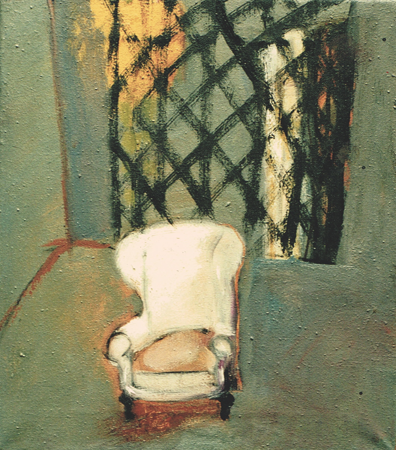 Ladies'room, 1999, oil on canvas, 40 x 35 cm