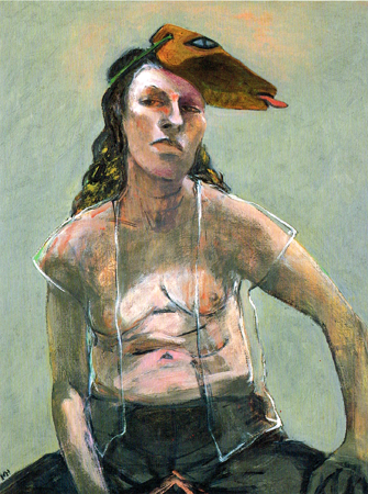 Masks, 2002, oil on canvas, 90 x 70 cm