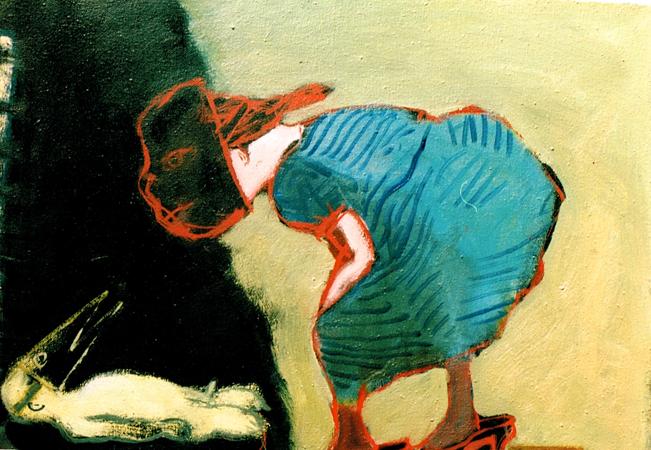 Ménage a trois, 2001, oil on canvas, 35 x 46 cm