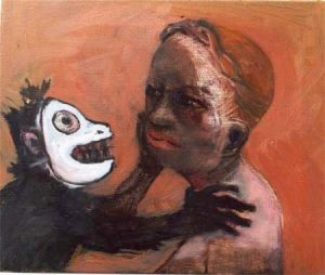 Monkey Business 2, 2005, oil on canvas, 38 x 46 cm