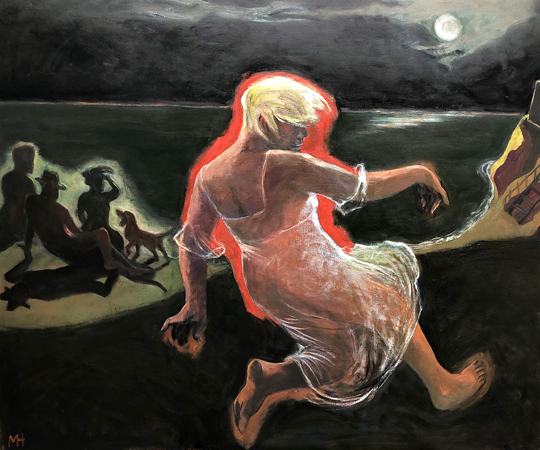 Moonlight dancer, 2020, oil on canvas, 100 x 120 cm