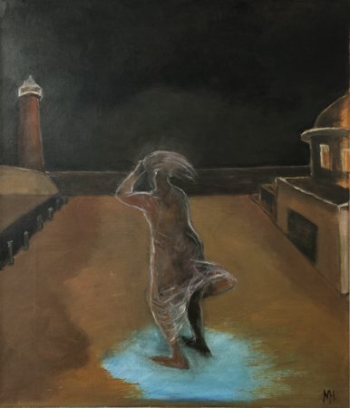 Night wanderer, 2020, oil on canvas, 70x 60 cm