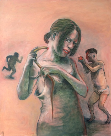 The Nourisher, 2017, oil on canvas, 87 x 72 cm