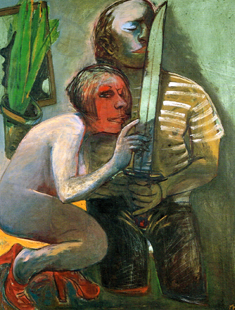 The overseas visitor, 2003, oil on canvas, 110 x 85 cm