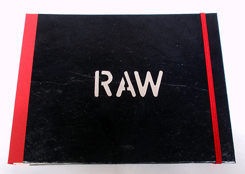 RAW, 2013, a single copy book, 4 hand coloured, recycled etchings/aquatints, 17,5 x 22,5 cm, Laparello binding