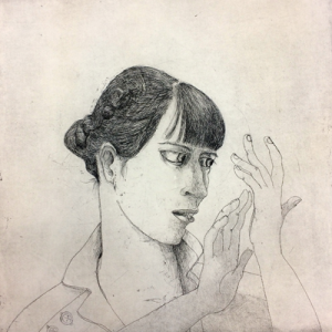 Reading between the lines 1, 2018, 50 x 50 cm, etching, ed 30
