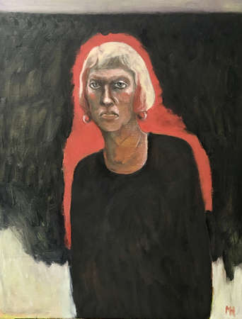Self portrait, 2020, oil on canvas, 90 x 70 cm
