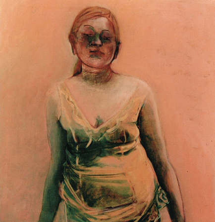 La sentinelle de la memoire 2, 2004, oil on canvas, 80 x75 cm