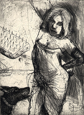 Song of the chambermaid, 2009, etching, 15 x 11 cm, edition 15