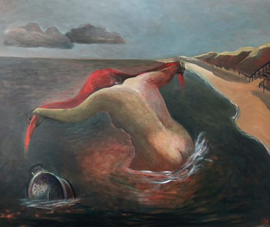The Cleansing, 2020, oil on canvas, 100 x1 20 cm