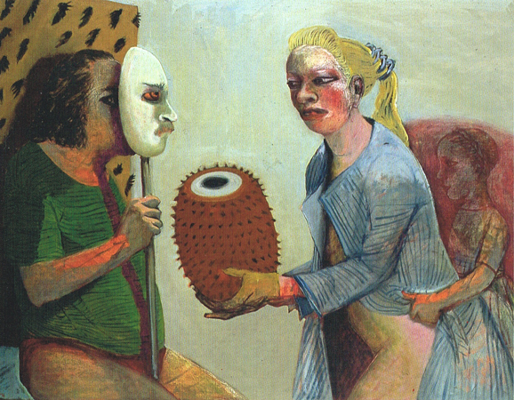 The gift, 2004, oil on canvas, 100 x 130 cm