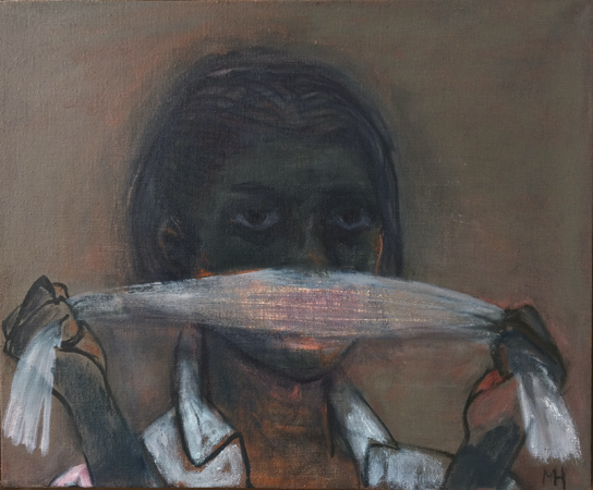 The Unspoken, 2017, oil on canvas, 36 x 43 cm