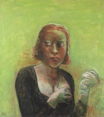 The Feminist, 2017, oil on canvas, 60 x 56 cm