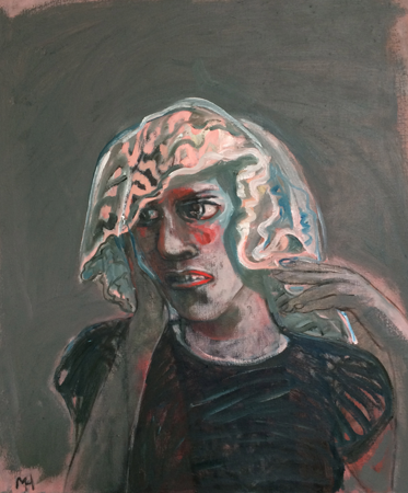 The veil, 2018, oil on canvas, 66 x 56 cm