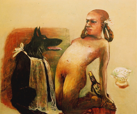 Under my skin 4, 2006, oil on canvas, 110 x 130 cm