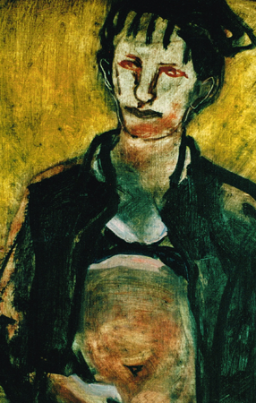 Woman in black, 2001, oil on canvas, 46 x 36 cm