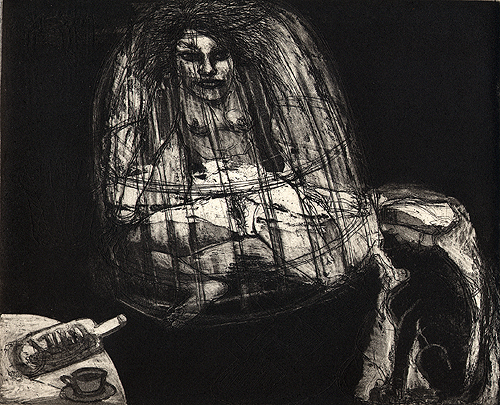 At the midnight hour, 2006, etching/aquatint, 24 x 19 cm, edition 30